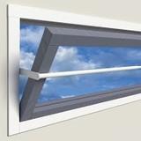 SecuBar Projektionsfenster 90-145cm in den Fensterrahmen von SecuBar