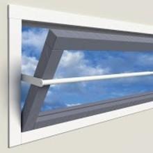 SecuBar Projektionsfenster 60-90cm in den Fensterrahmen von SecuBar