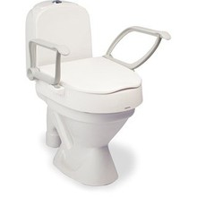 Etac R82 B.V. Hi-Loo toilet seat with armrests
