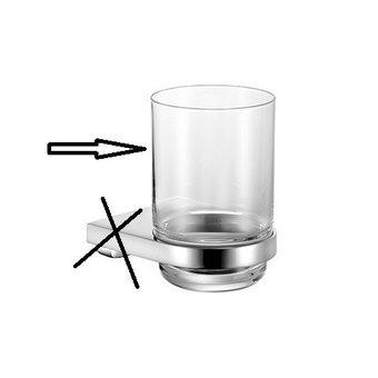 Keuco Kristallen glas los voor Glashouder serie Moll  Keuco