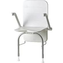 Etac R82 B.V. Shower Seat Relax - back - armrests - outriggers Etac