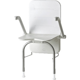 Etac R82 B.V. Shower Seat Relax - back - armsteunen- outriggers Etac