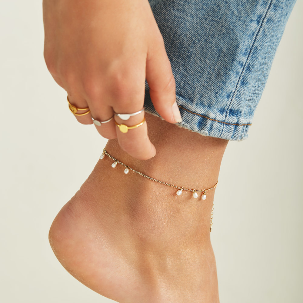 Violet Hamden Luminous Lake ankle bracelet gold