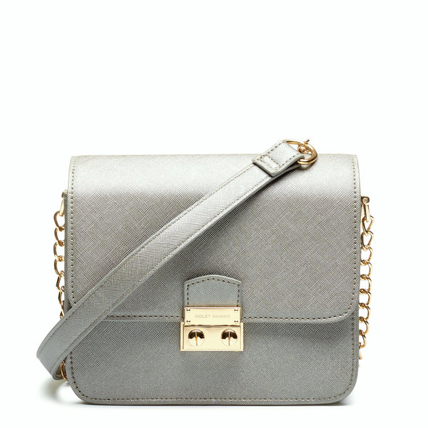 Violet Hamden Mini Crossbody Metallic Silver