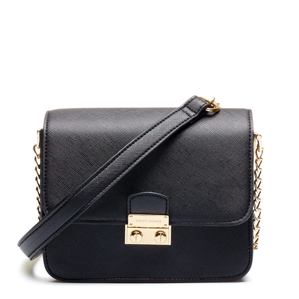 Violet Hamden Evening Star sort crossbody taske