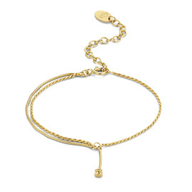 Violet Hamden Sisterhood Phoebe 925 sterlingsølv guldfarvet armbånd