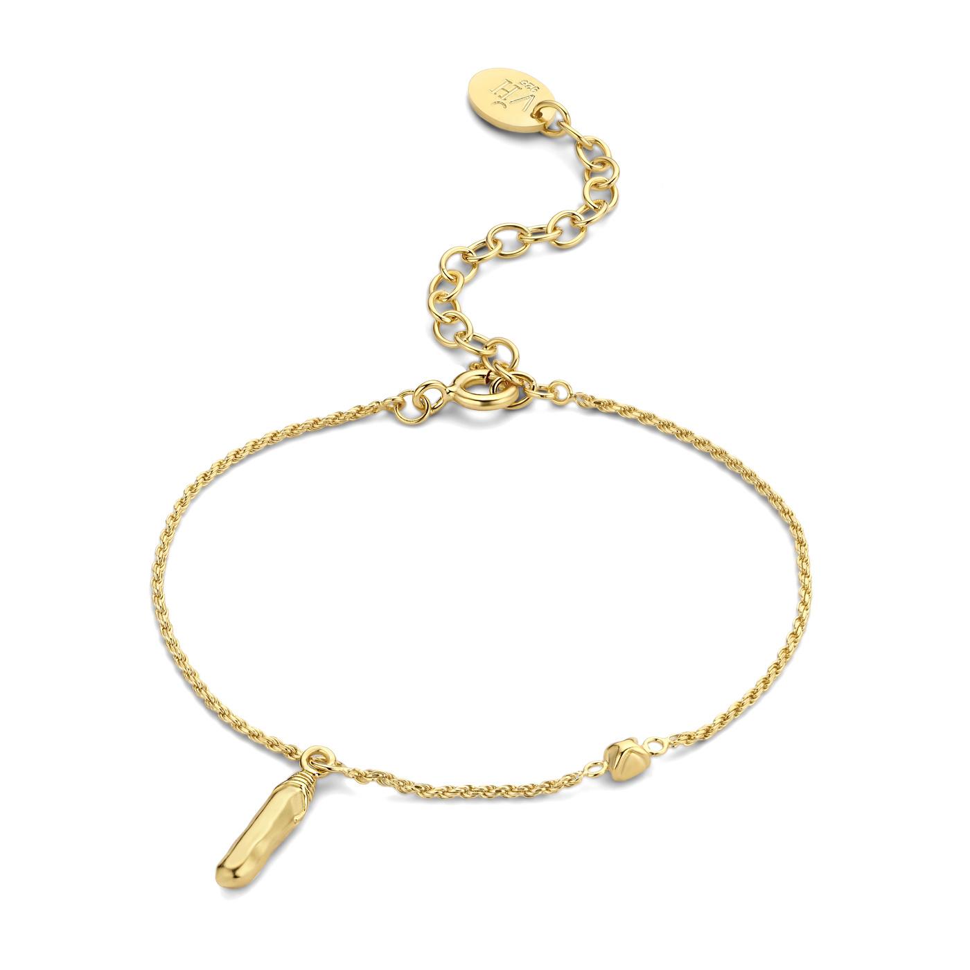 Violet Hamden Sisterhood Mona bracciale color oro in argento sterling 925