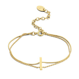 Violet Hamden Goldfarbenes Sisterhood Armband aus 925 Sterlingsilber