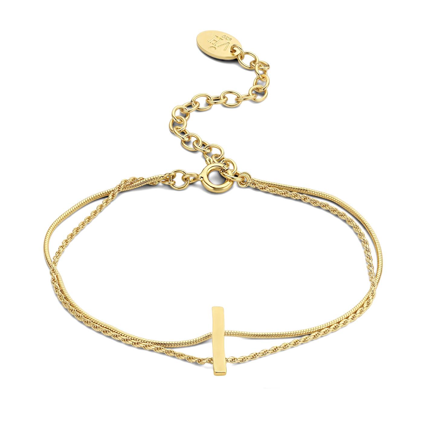 Violet Hamden Sisterhood Moonscape guldfärgad armband i 925 sterlingsilver