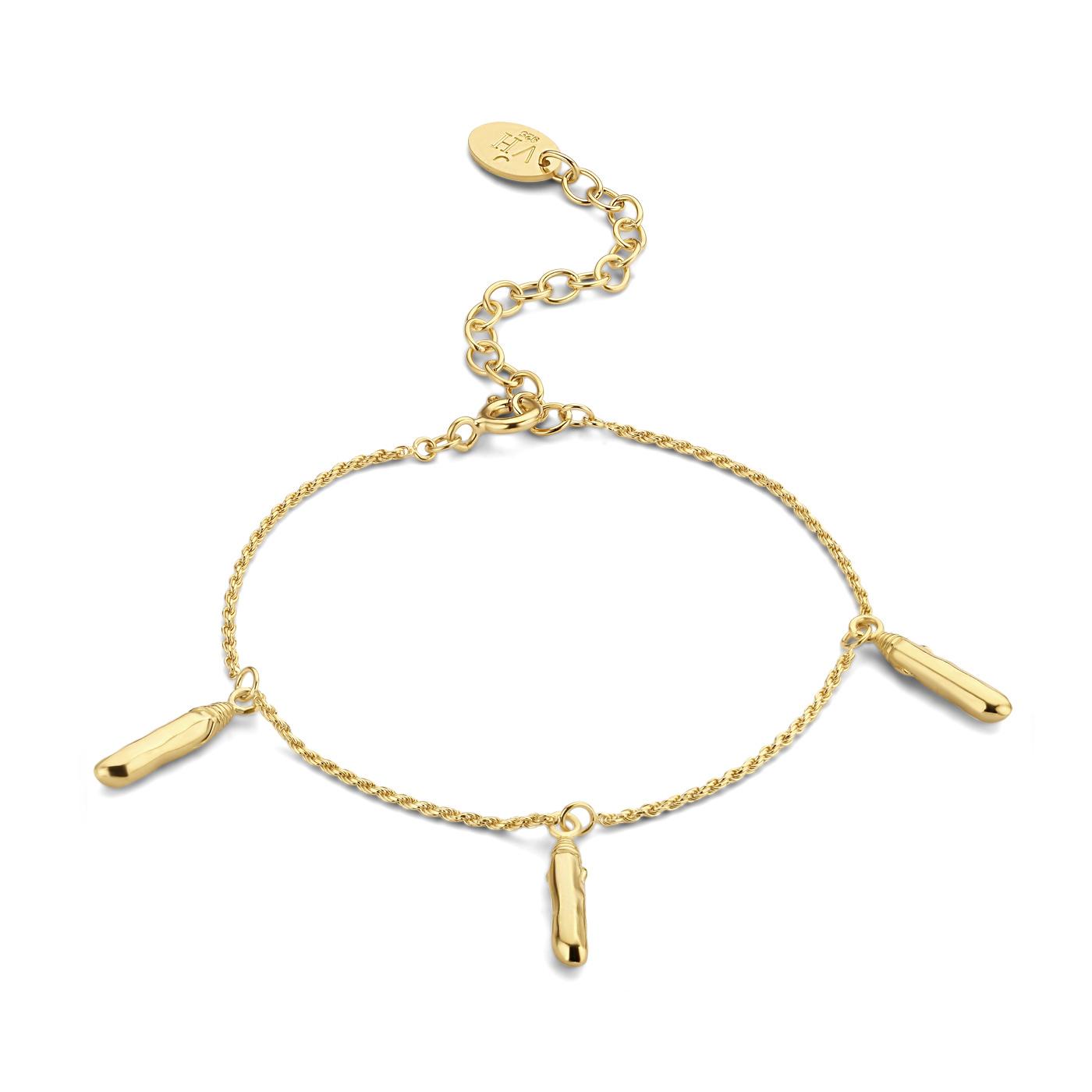 Violet Hamden Sisterhood Mona 925 Sterling Silber goldfarbenes Armband mit Stange