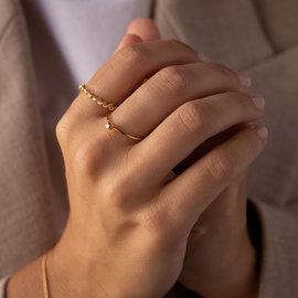Violet Hamden Sisterhood Stone 925 sterling zilver goudkleurige ring met steentje