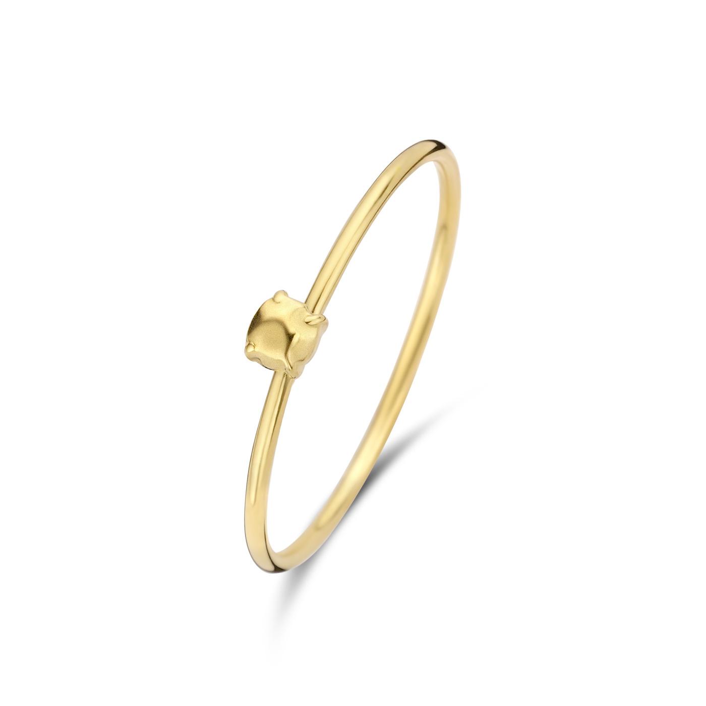 Violet Hamden Sisterhood Stone 925 Sterling Silber goldfarbenes Ring mit Stein