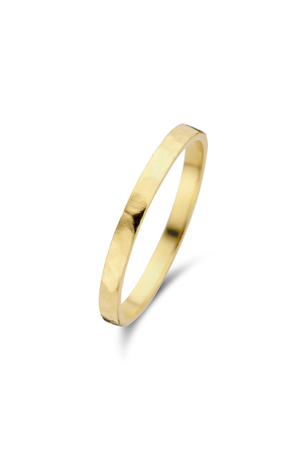 Violet Hamden Sisterhood Moonlit 925 sterlingsølv guldfarvet ring
