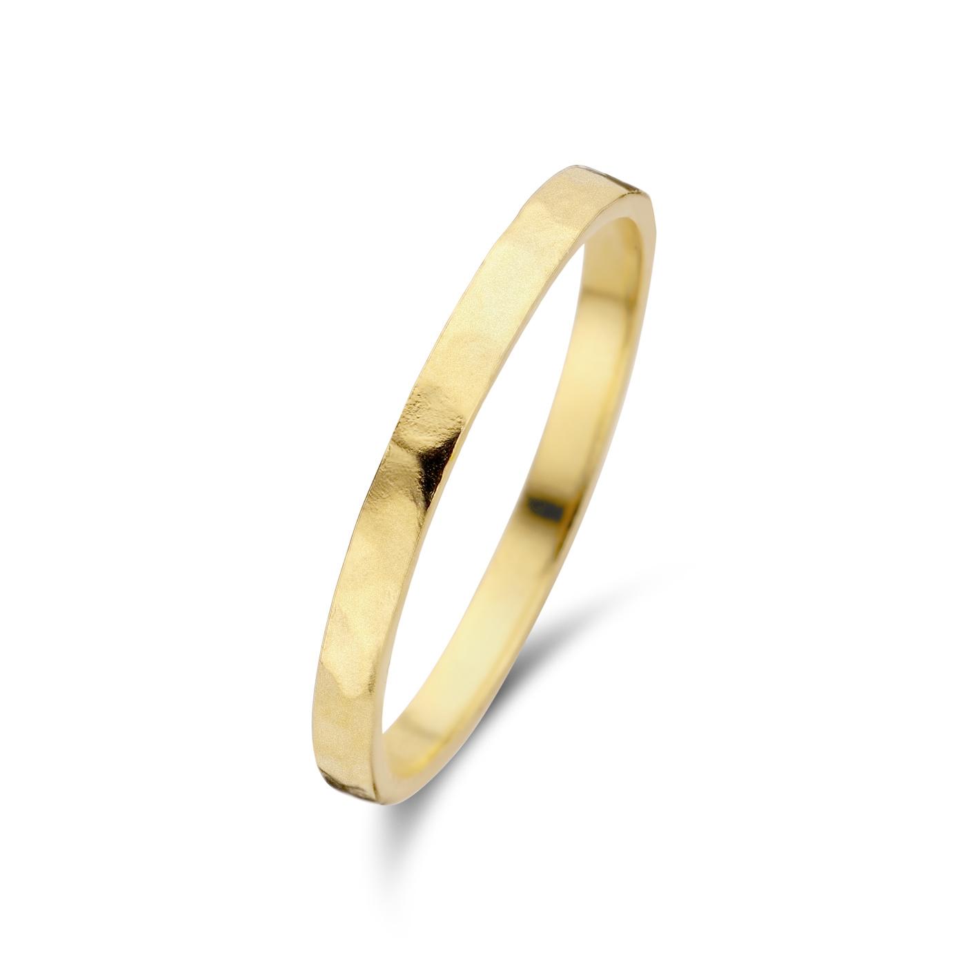 Violet Hamden Sisterhood Moonlit guldfärgad ring i 925 sterlingsilver