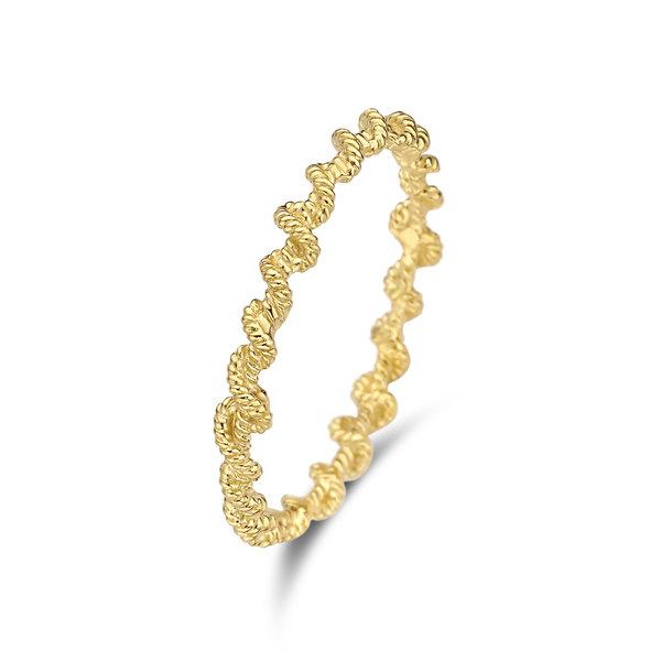Violet Hamden Sisterhood Lunar 925 sterling sølv guldfarvet ring
