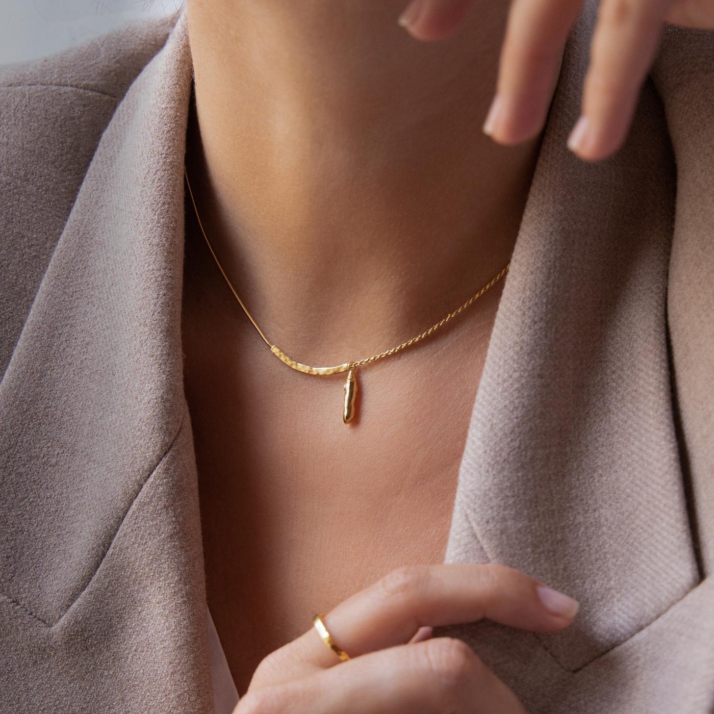 Violet Hamden Sisterhood Phoebe 925 sterling zilver goudkleurige Halsketting