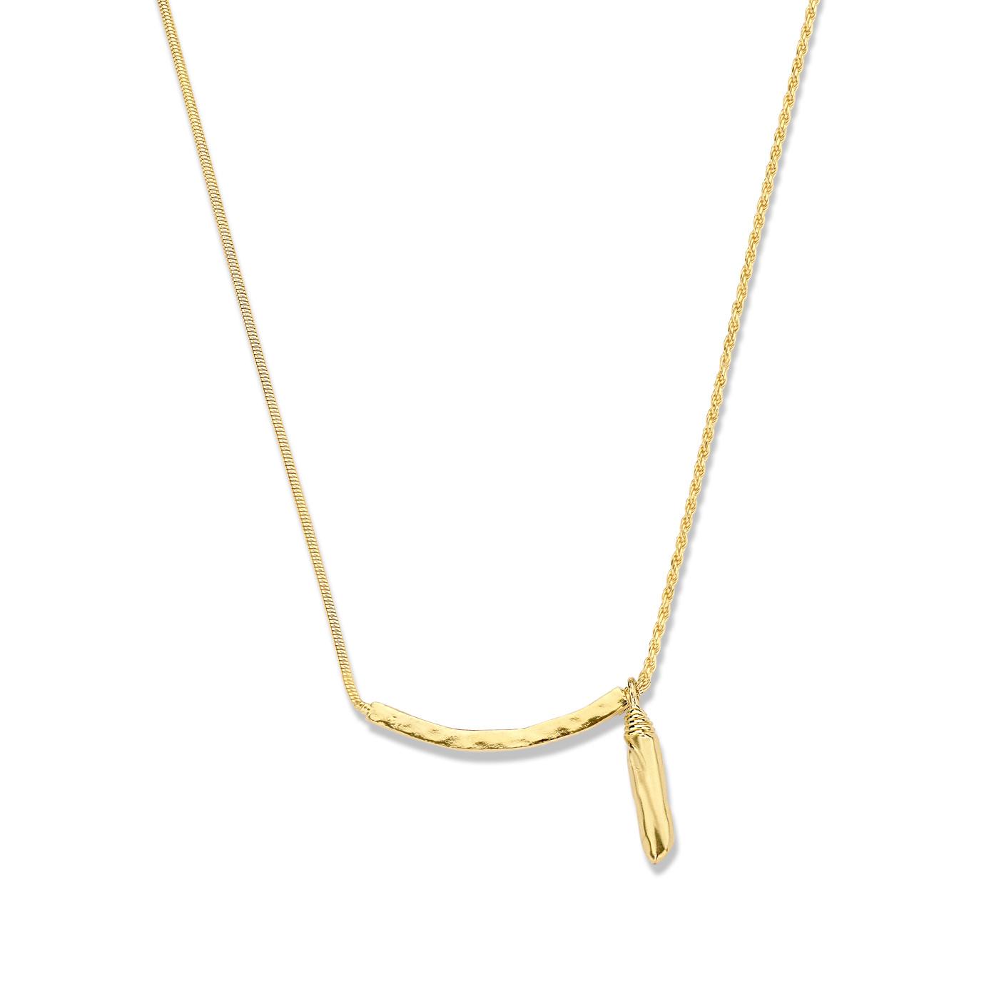 Violet Hamden Sisterhood Phoebe 925 sterlingsølv guldfarvet halskæde
