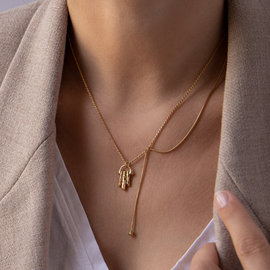 Violet Hamden Sisterhood Moonsister 925 sterlingsølv guldfarvet halskæde