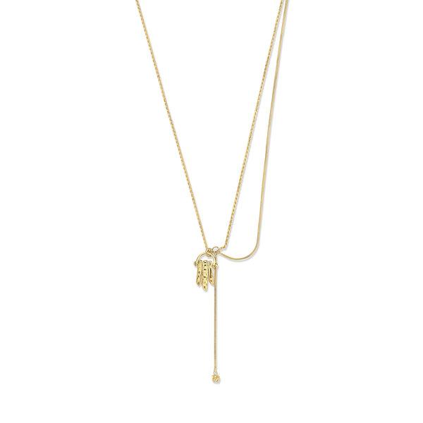 Violet Hamden Sisterhood Moonsister 925 sterling silver gold colored necklace