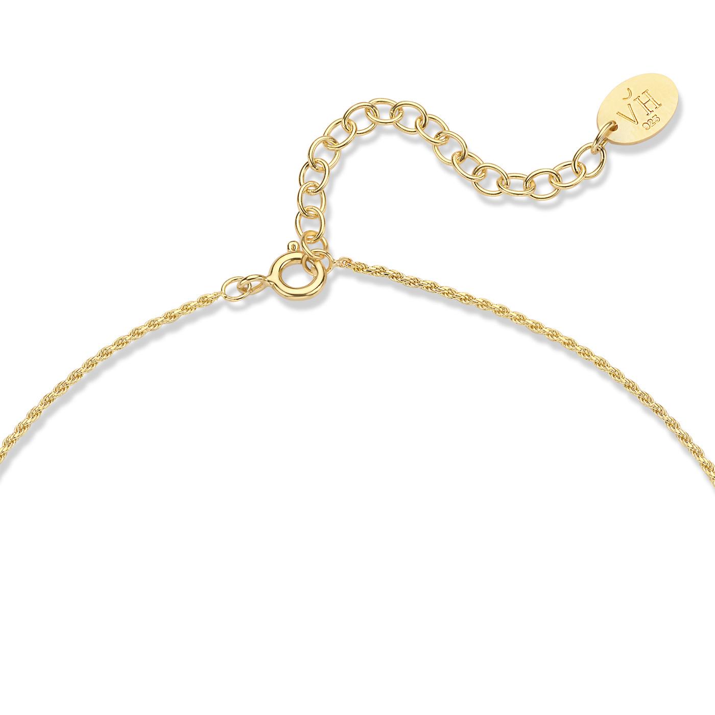 Violet Hamden Sisterhood Mona collana color oro in argento sterling 925