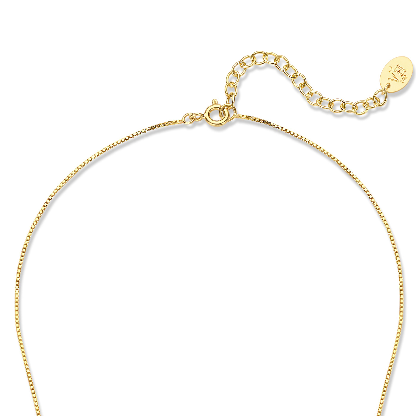 Violet Hamden Sisterhood Moonlit 925 sterling silver gold colored necklace