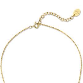 Violet Hamden Sisterhood Solid 925 sterlingsølv guldfarvet halskæde