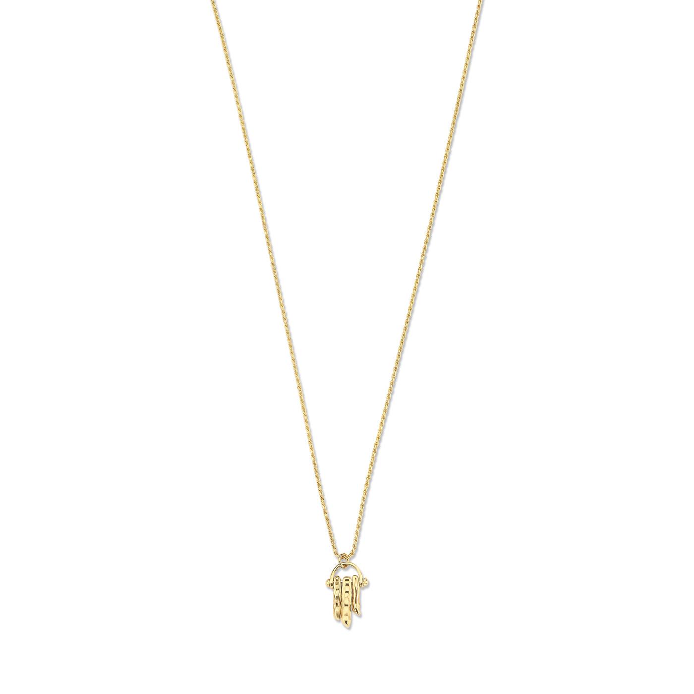 Violet Hamden Sisterhood Solid collana color oro in argento sterling 925