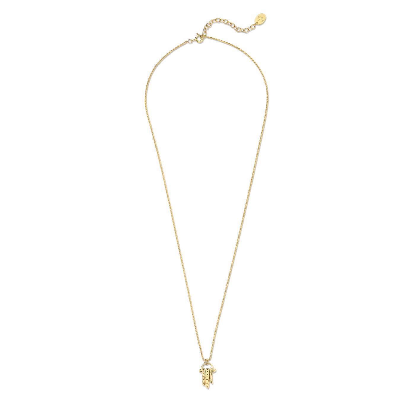 Violet Hamden Sisterhood Solid beguldfärgad halsband i 925 sterlingsilver
