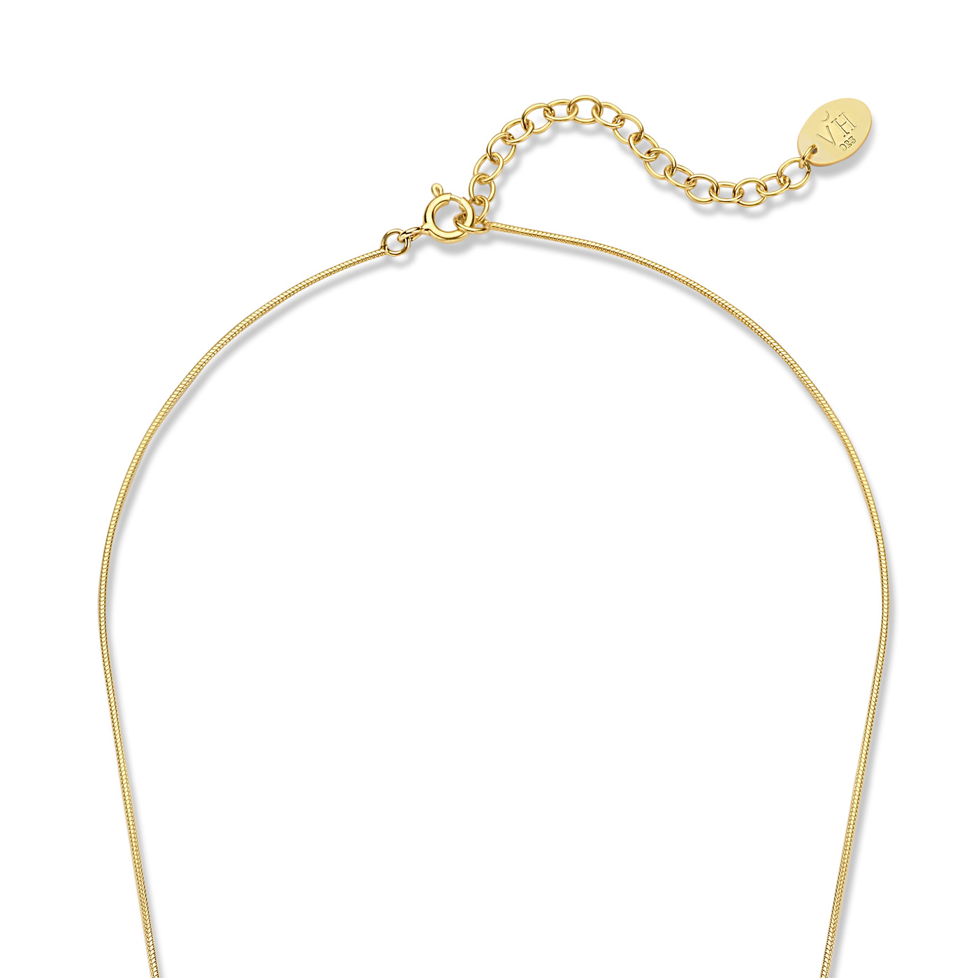 Violet Hamden Sisterhood Moonscape 925 sterling silver gold colored necklace with rods