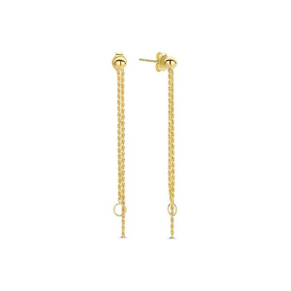 Violet Hamden Sisterhood Stella 925 sterling silver gold colored drop earrings