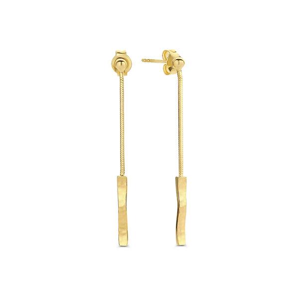 Violet Hamden Sisterhood Moonscape 925 sterling silver gold colored drop earrings