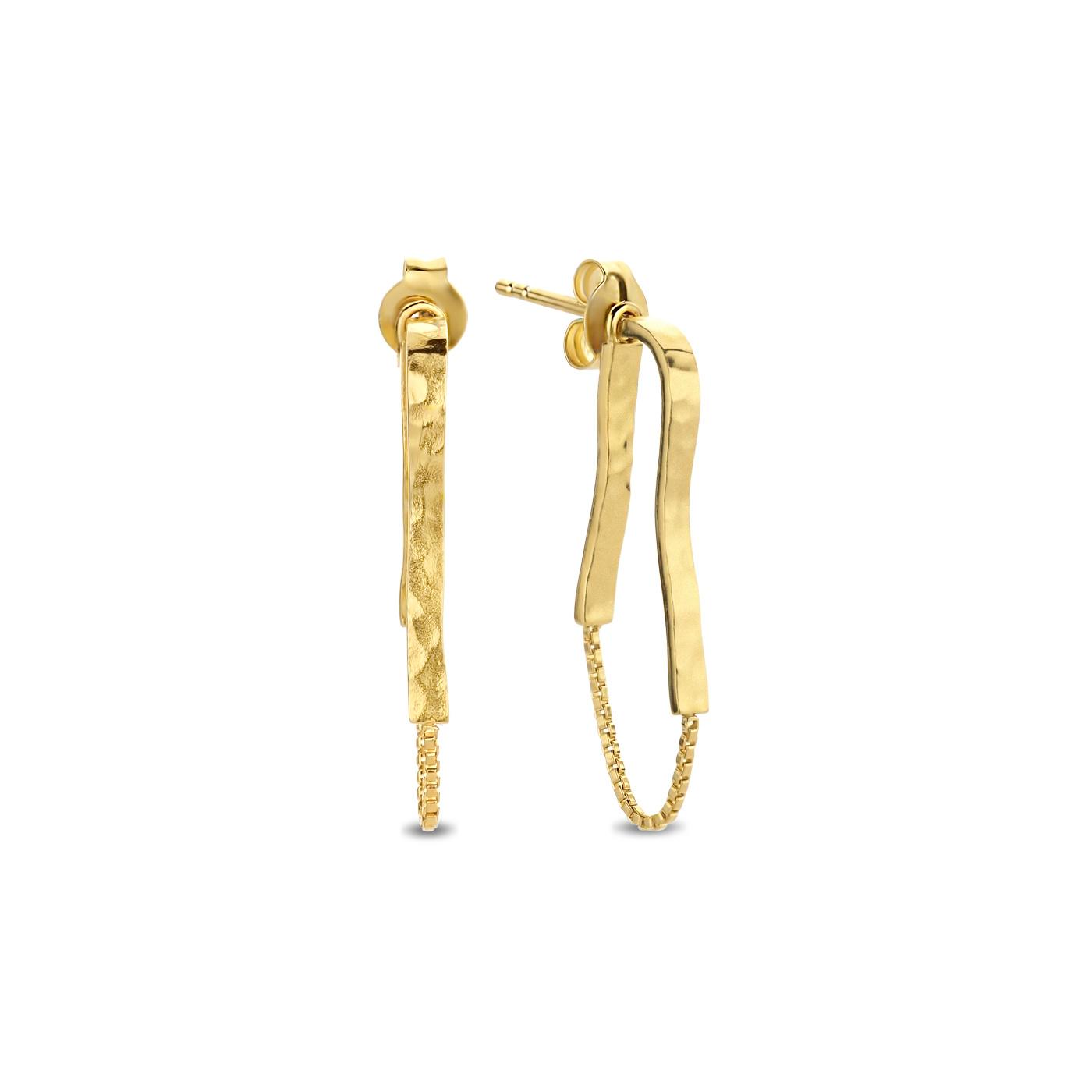 Violet Hamden Sisterhood Moonscape orecchini pendenti color oro in argento sterling 925