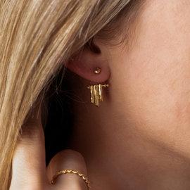 Violet Hamden Sisterhood Moonsister 925 sterling zilveren goudkleurige oorstekers