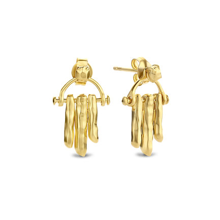 Violet Hamden Sisterhood Moonsister orecchini a bottone color oro in argento sterling 925