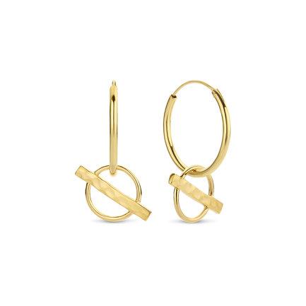 Violet Hamden Sisterhood Moonscape 925 sterling silver gold colored hoop earrings