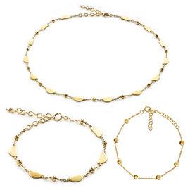Violet Hamden 925 sterling zilveren goudkleurige ketting en armbanden giftset