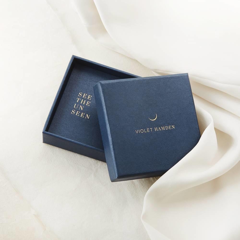 Violet Hamden Coffret cadeau colliers en argent sterling 925 couleur or