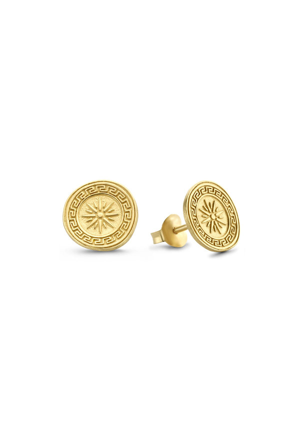 Violet Hamden Athens 925 sterling silver gold colored ear studs