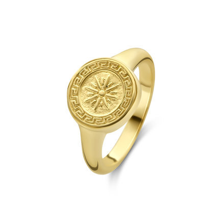 Violet Hamden Athens 925 sterling sølv guldfarvet ring