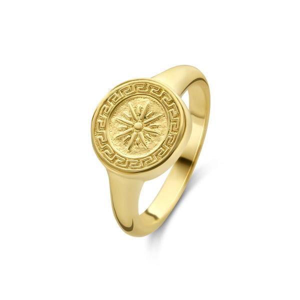 Violet Hamden Athens guldfärgad ring i 925 sterlingsilver