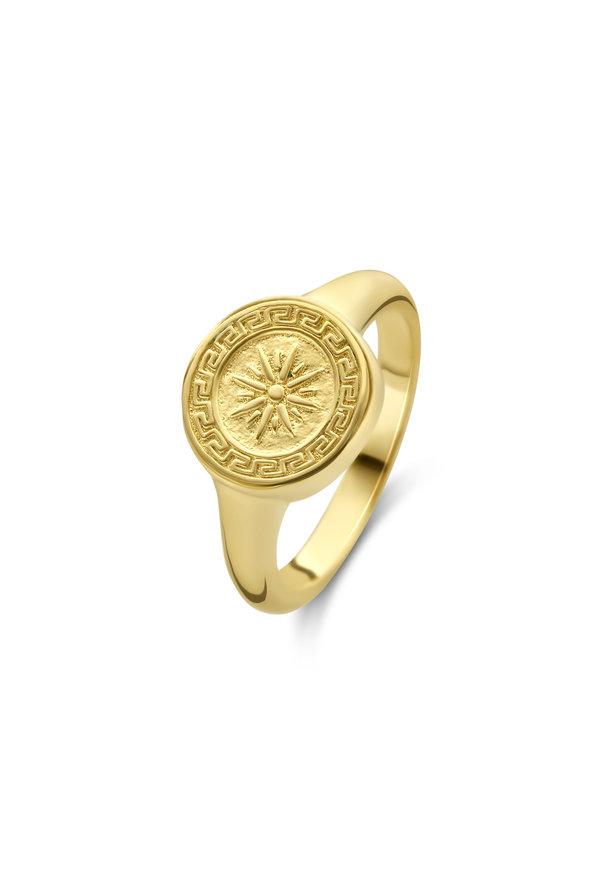 Violet Hamden Athens 925 sterling silver gold colored ring