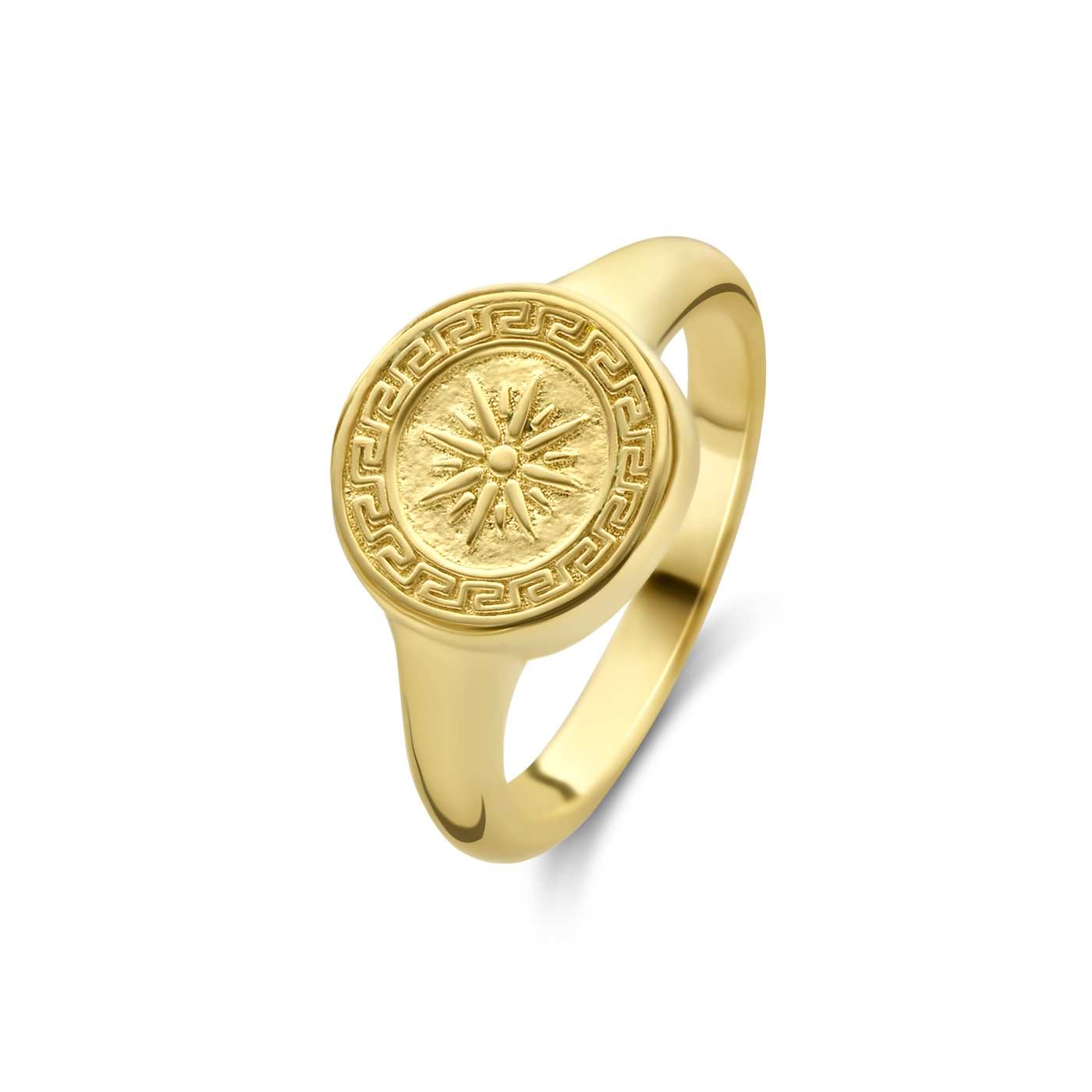 Violet Hamden Athens Ring aus goldfarbenem 925 Sterlingsilber