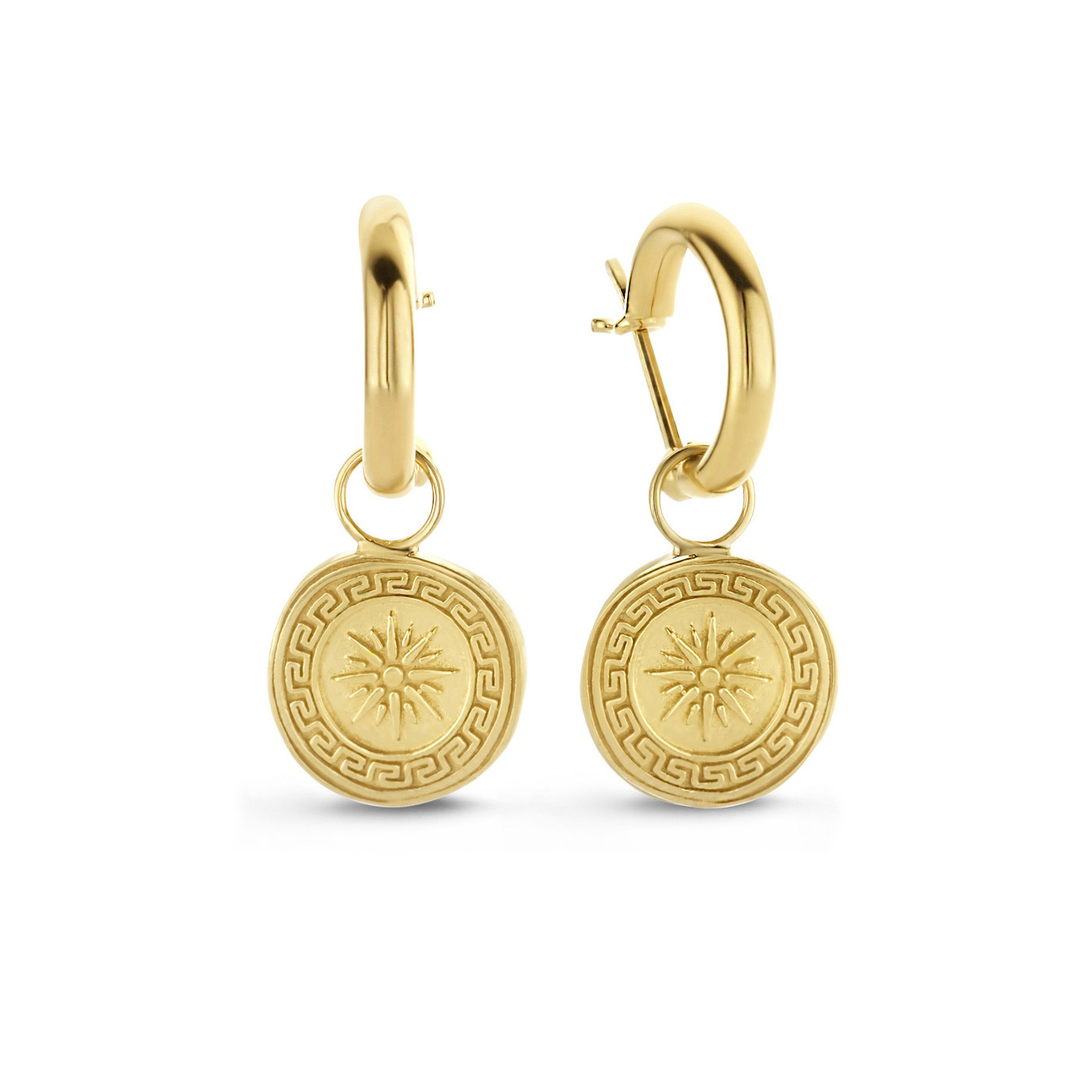 Violet Hamden Athens 925 sterling silver gold colored earrings