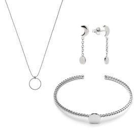 Violet Hamden Luna Set regalo di gioielli in argento sterling 925