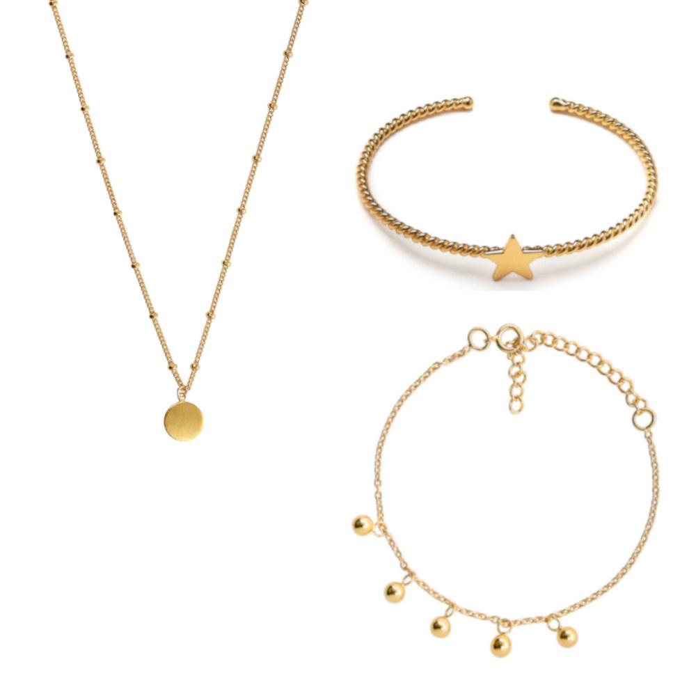 Violet Hamden Luna Set regalo di gioielli in oro sterling 925
