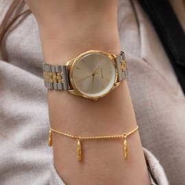 Violet Hamden Sisterhood Mona 925 sterling zilver goudkleurige armband met staafjes