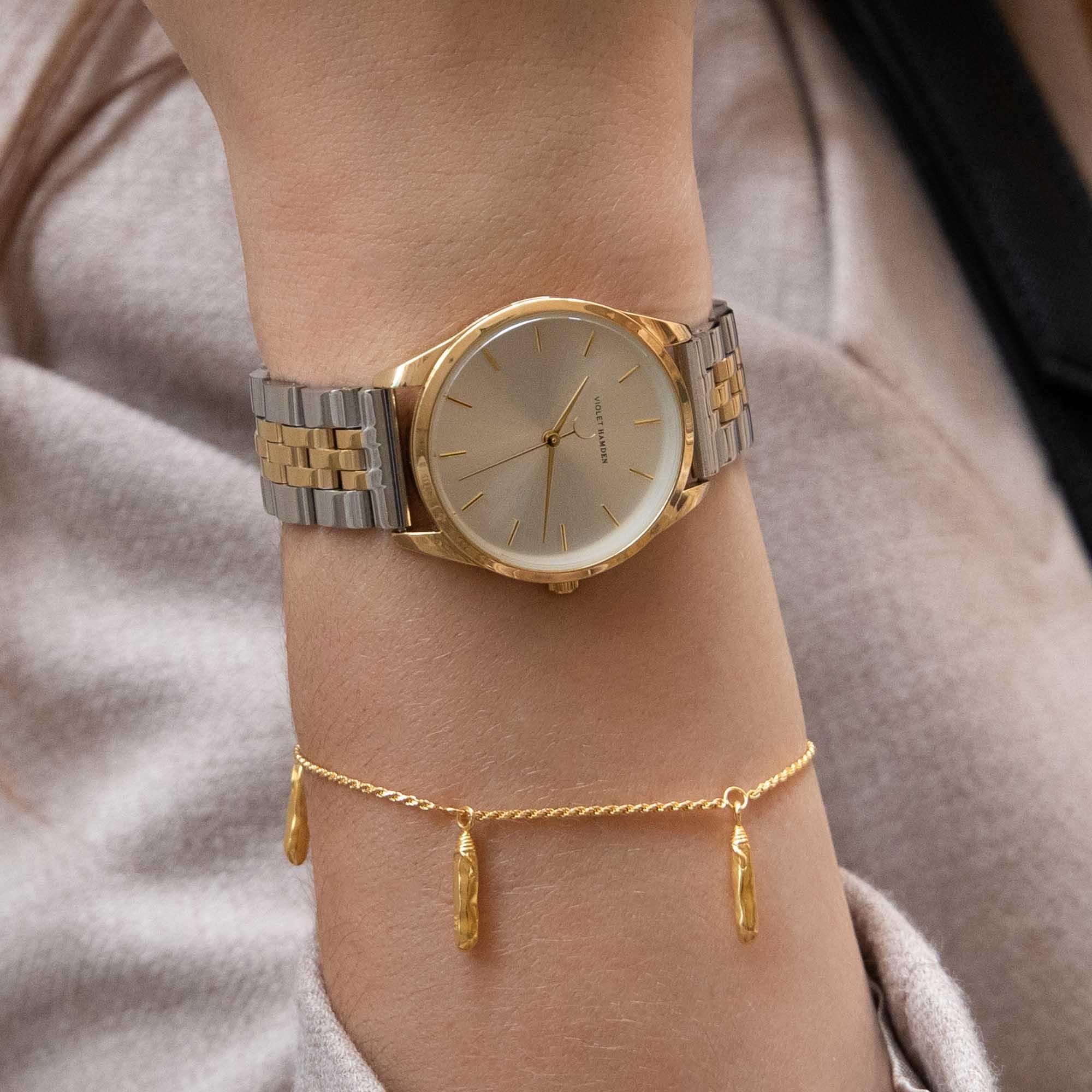 Violet Hamden Sisterhood Mona 925 sterling silver gold colored bracelet