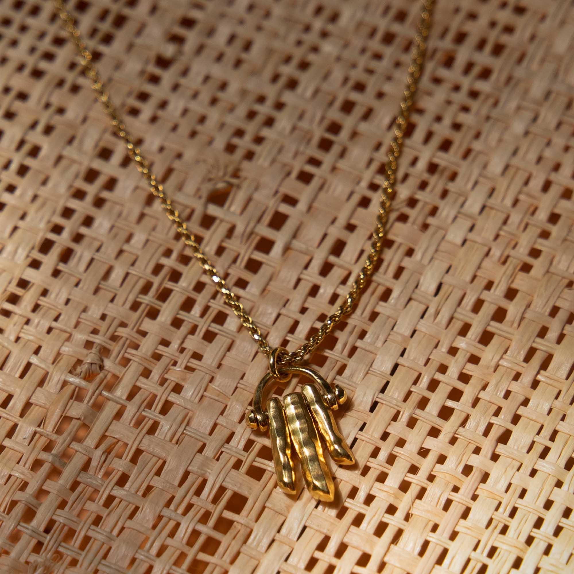 Violet Hamden Sisterhood Solid Moonsister 925 sterling silver gold colored necklace
