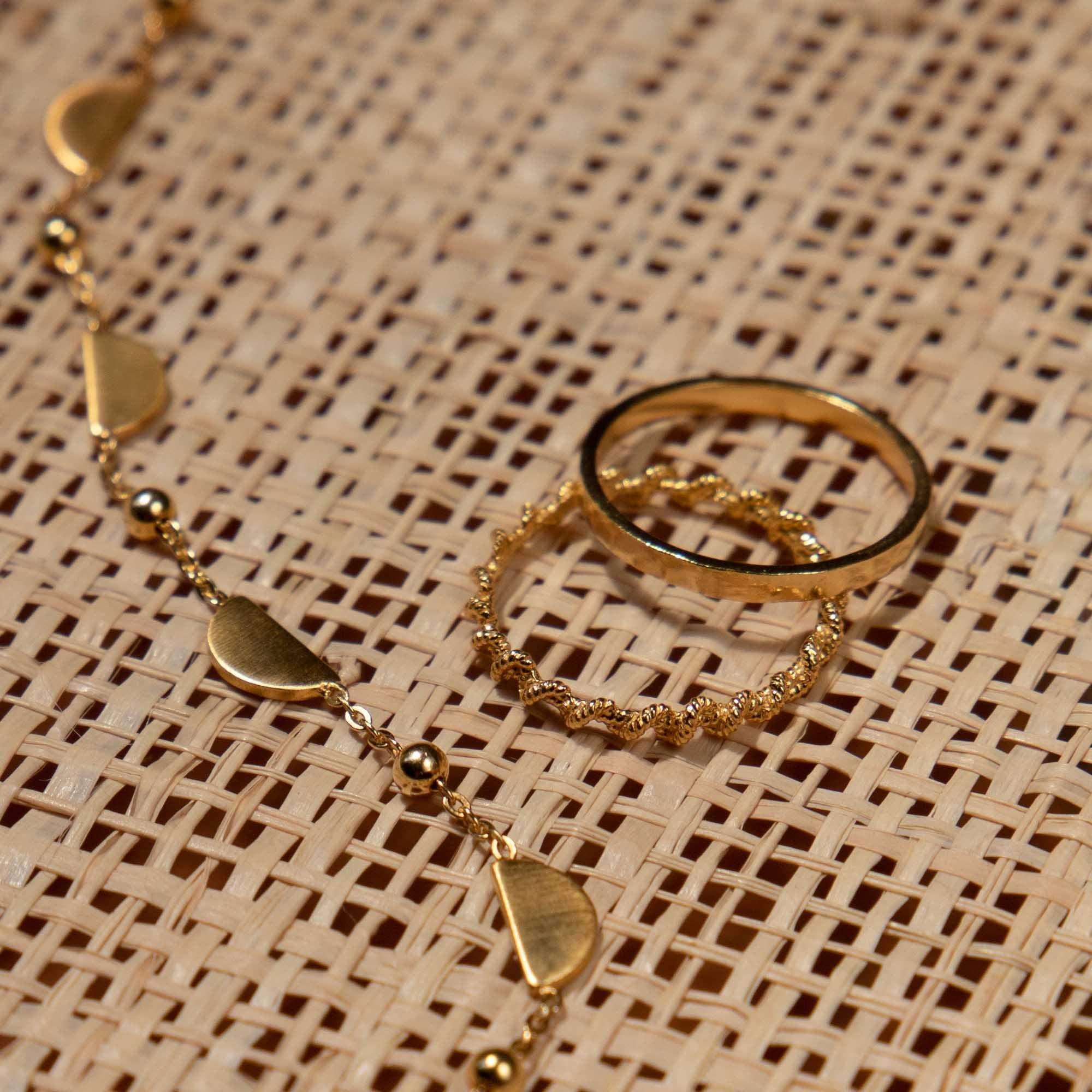 Violet Hamden Sisterhood Moonlit 925 sterling sølv guldfarvet ring