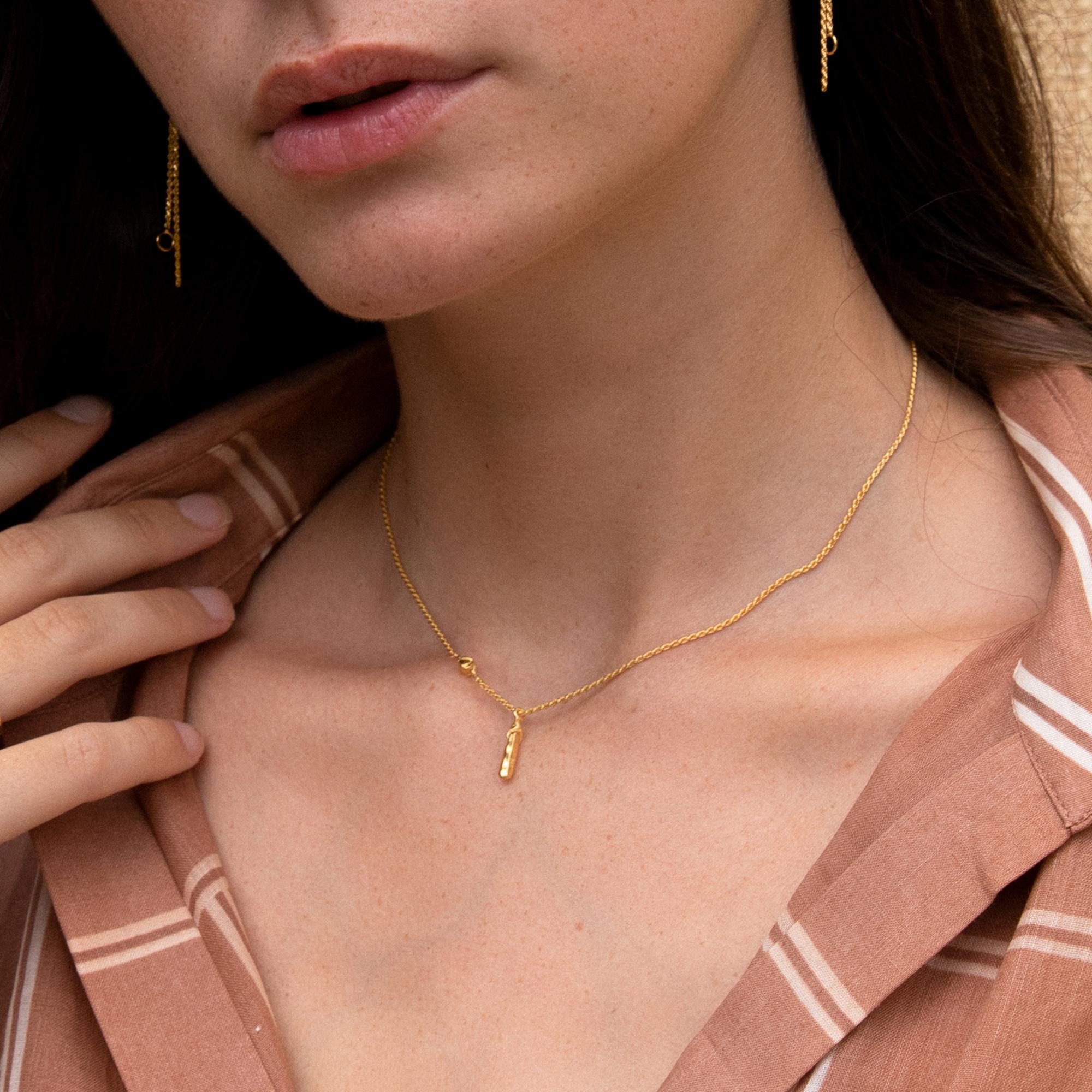 Violet Hamden Sisterhood Mona 925 sterlingsølv guldfarvet halskæde